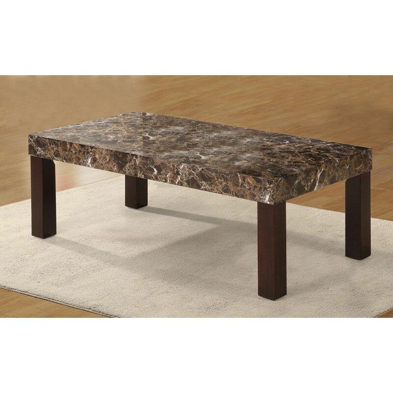 Merveilleux Red Barrel Studio Mccullum Faux Marbelized Granite Coffee Table | Wayfair