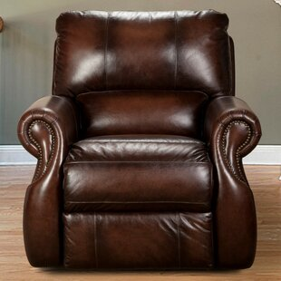 Read Reviews Hardcastle Leather Power Recliner by Darby Home Co Reviews (2019) & Buyer's Guide