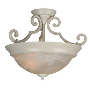 Fleur De Lis Living Bienville Three Arm Basic 2-Light Semi Flush Mount