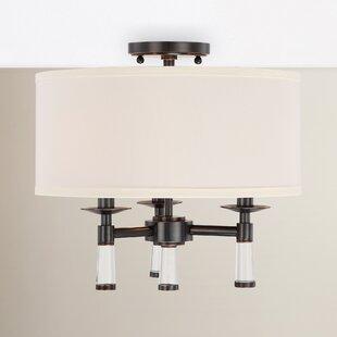 Indimar 3-Light Semi Flush Mount by Gracie Oaks