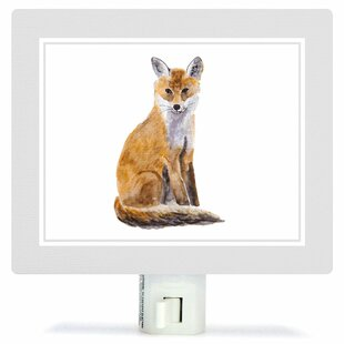 Oopsy Daisy Animal Kingdom - Fox by Brett Blumenthal Canvas Night Light