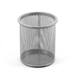 YBM Home Office Round Desk Steel Mesh Pencil Cup Pen Holder