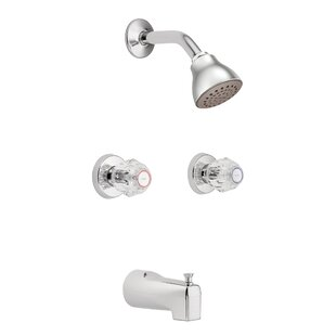 Moen Chateau Tub and Shower Faucet with Knob Handles