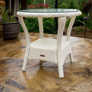 Portside Glass Side Table by Tortuga Outdoor