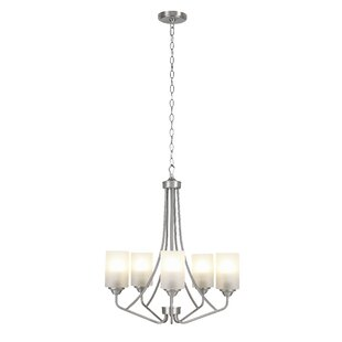 Eatman 5-Light Shaded Chandelier by Charlton Home