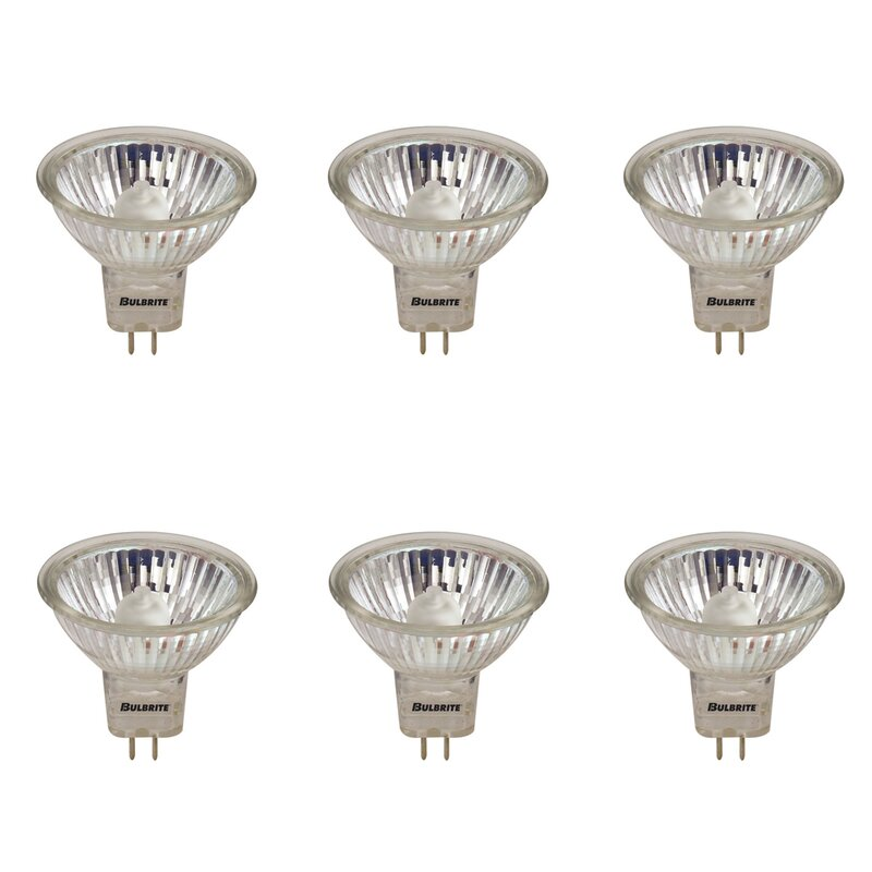 Bulbrite Industries 50 Watt Mr16 Halogen Dimmable Light Bulb 2900k Base Wayfair