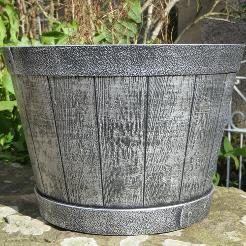 Übertopf   Garten > Pflanzen   Silber   Kunststoff   Hazelwood Home