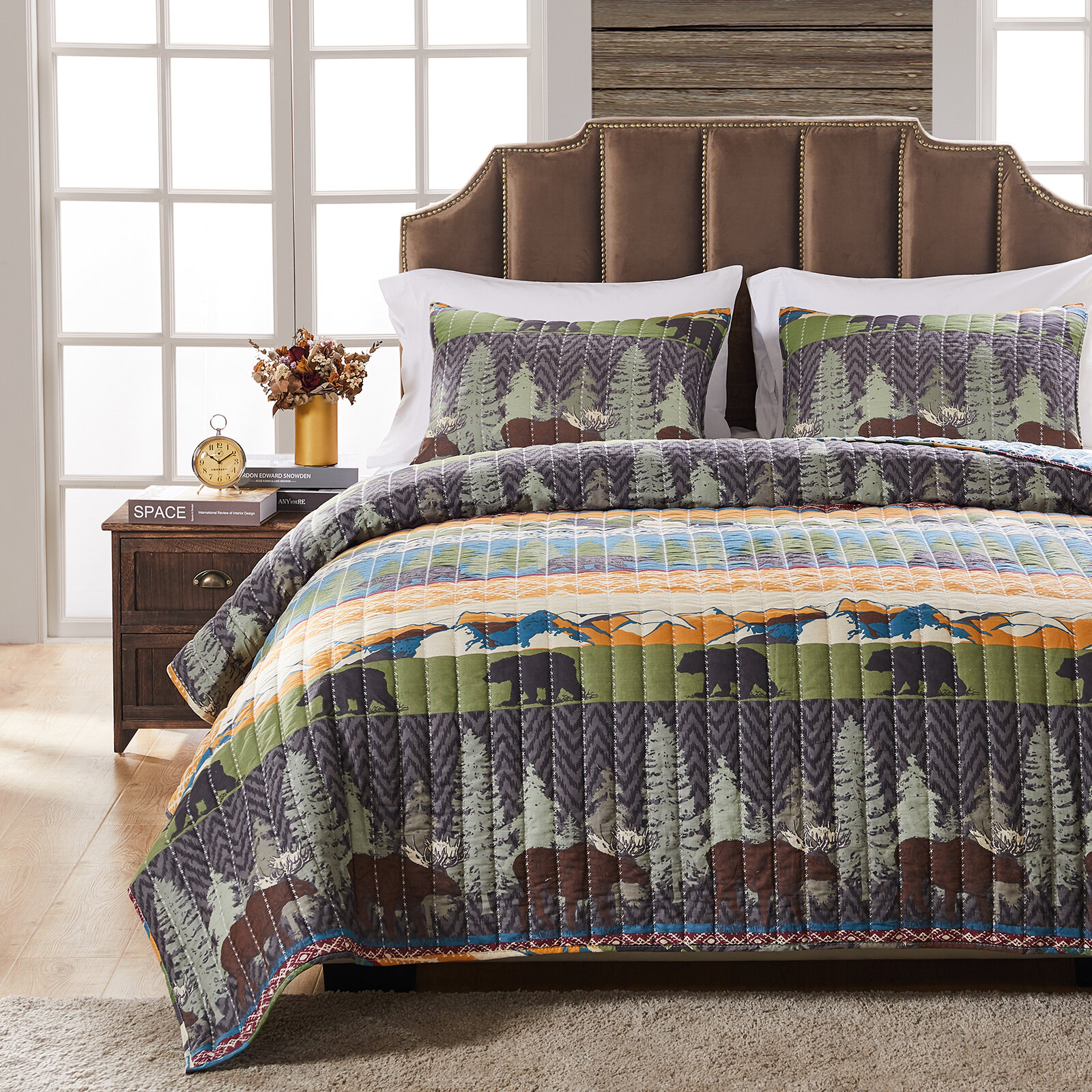 Cabin Lodge Geometric Quilts Coverlets Sets You Ll Love In 2021 Wayfair