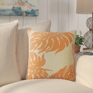 Maiah Floral Down Filled Throw Pillow