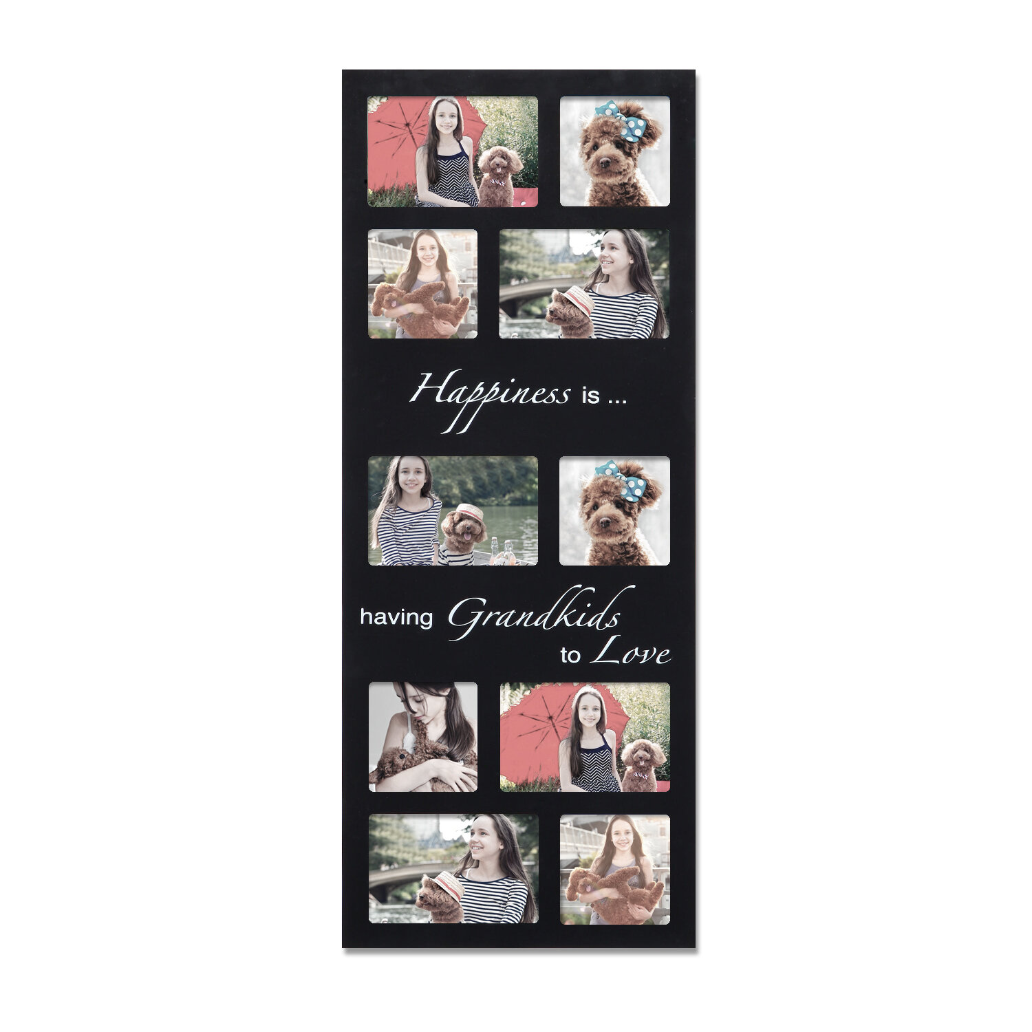 Adecotrading 10 opening decorative happiness is wall hanging adecotrading 10 opening decorative happiness is wall hanging collage picture frame reviews wayfair jeuxipadfo Image collections