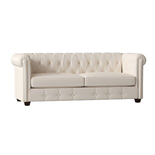 Read Reviews Hawthorn Leather Chesterfield Sofa by Birch Lane™ Heritage Reviews (2019) & Buyer's Guide