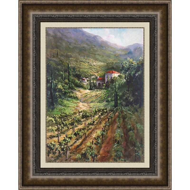 Fleur De Lis Living Tuscany Vineyard Framed Painting Print Wayfair