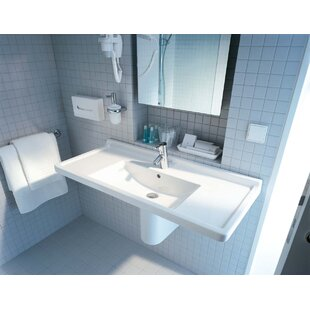 Where buy  Starck 3 Ceramic 42 Wall Mount Bathroom Sink with Overflow By Duravit