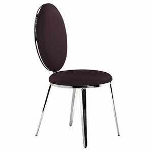 Belina Genuine Leather Upholstered Dining Chair (Set of 2) by Bellini Modern Living