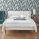 Fenoglio Queen Tufted Upholstered Low Profile Platform Bed by George Oliver