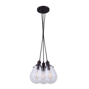 Moss 3-Light Cluster Pendant by Wrought Studio