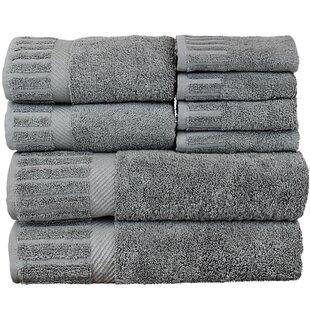 Fiorella 8 Piece 100% Cotton Towel Set