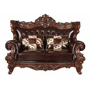 Astoria Grand Keagan Leather Loveseat
