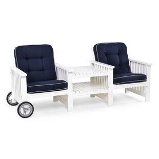 Wooden Love Seat By Beachcrest Home