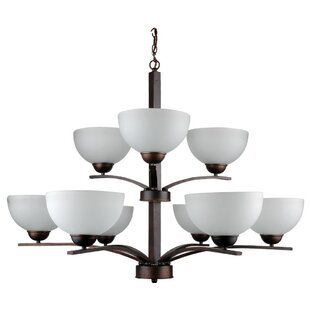 Whitfield Lighting Mickayla 9-Light Shaded Chandelier