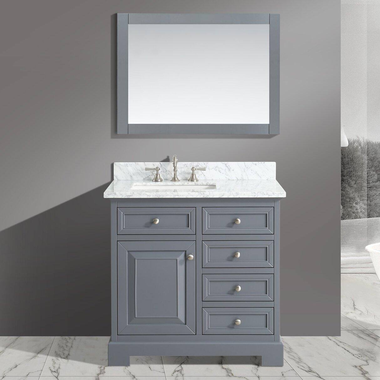 Urban Furnishings Rochelle  Bathroom Sink Vanity Set With - Bathroom sink and vanity sets