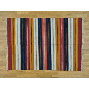 Best Choices One-of-a-Kind Bloomsburg Striped Handmade Kilim Wool Area Rug By Isabelline
