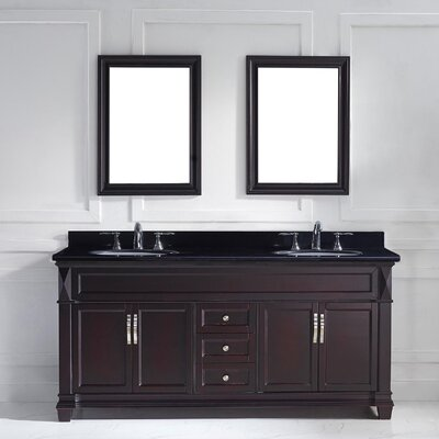 "Double Bathroom Vanity Photos kbc abbey 72"" double bathroom vanity set & reviews 