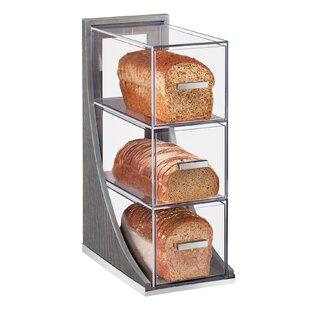 Lesko 3 Tier Ashwood Bread Box