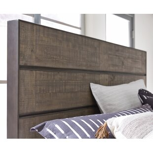 Aahil Metal and Wood Bed Panel Headboard