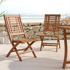roseland eucalyptus folding side chairs set of 2