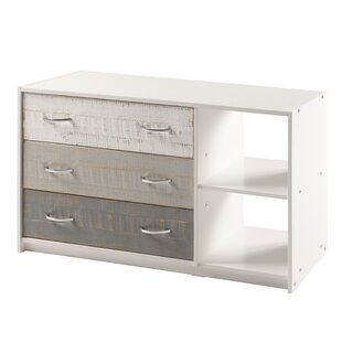 Fulton Two Tone 3 Drawer Combo Dresser with Cubby by Isabelle amp Max