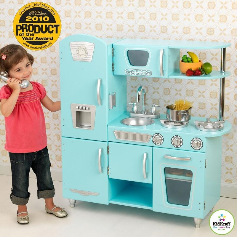 kidkraft vintage kitchen & reviews | wayfair