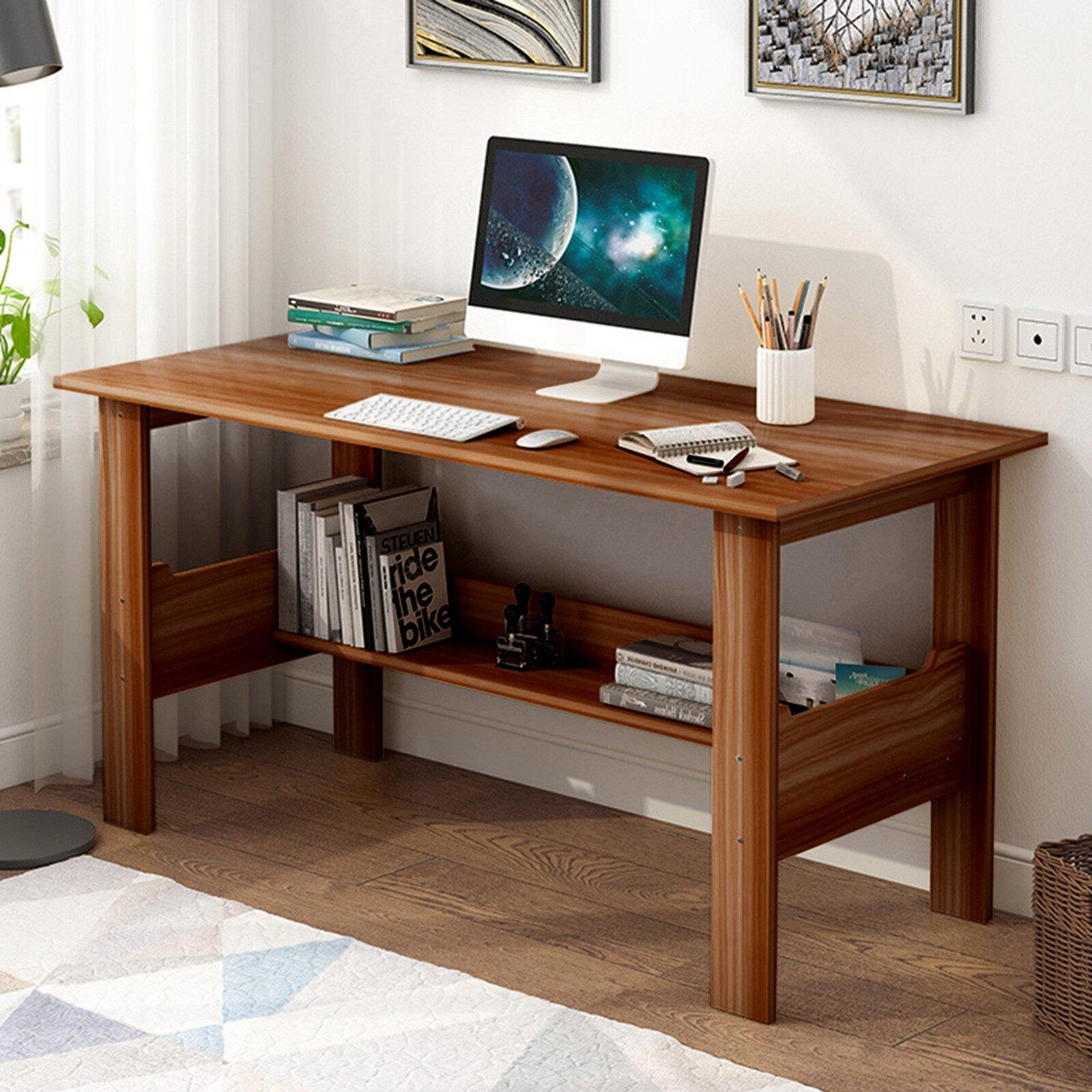 Latitude Run® Frankie-Leigh Reversible Solid Wood Desk | Wayfair