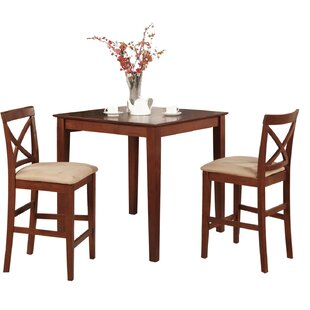 Alcott Hill Pleasant View 3 Piece Counter Height Bistro Set