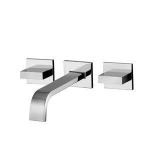 WS Bath Collections Lever Widespread Bathroom with Push Handle