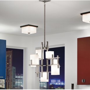 Kichler chandeliers youll love city 7 light shaded chandelier by kichler mozeypictures Image collections