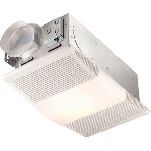 Bathroom heater fan light wayfair 70 cfm bathroom fan with heater and light aloadofball Choice Image