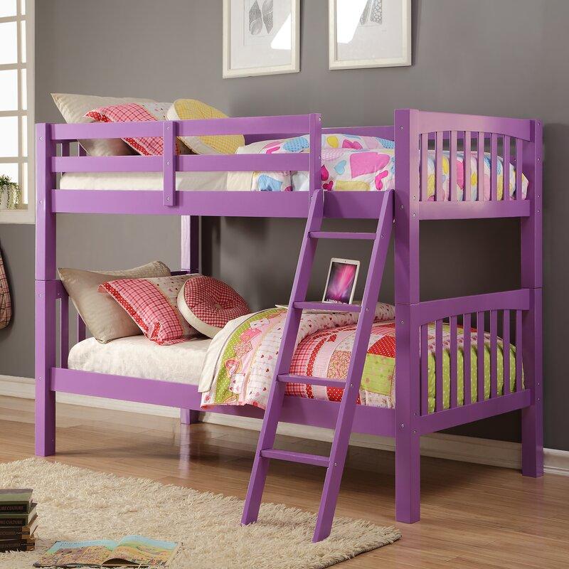 Pics Of Bunk Beds donco kids grapevine twin bunk bed & reviews | wayfair