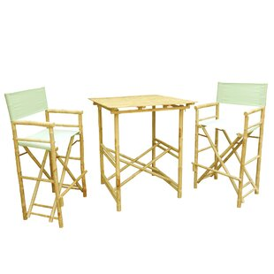 Phat Tommy 3 Piece Bar Height Dining Set