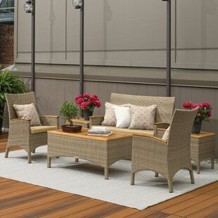 Navarette 6 Piece Sunbrella Sofa Set with Cushions by Beachcrest Home