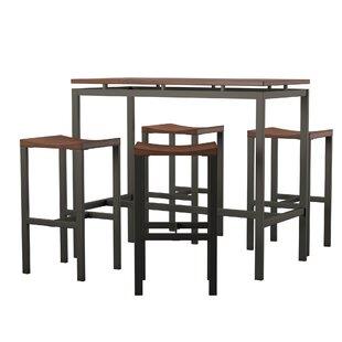 Admirable Mcgonigal 5 Piece Bar Height Dining Set Unemploymentrelief Wooden Chair Designs For Living Room Unemploymentrelieforg