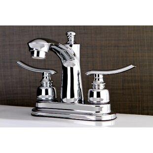 Kingston Brass Jamestown Standard Centerset Bathroom Faucet with Drain Assembly