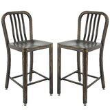 Pontius Bar Stool with Back (Set of 2) by Gracie Oaks