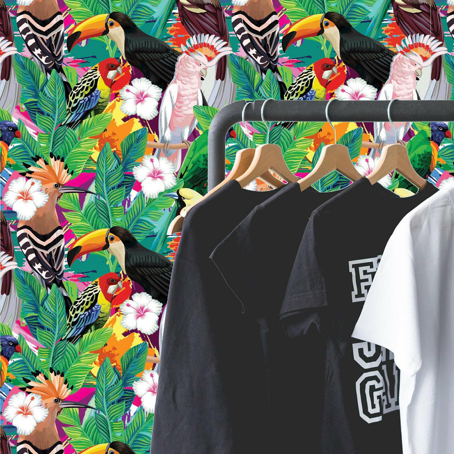 Papier Peint Avec Perroquet rouleau de papier peint adhésif toucan perroquet 10 pi x l 25 po avec  composition amovible argent