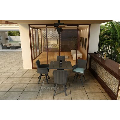 Hampton 5 Piece Bar Height Dining Set With Sunbrella Cushions by Forever Patio Modern