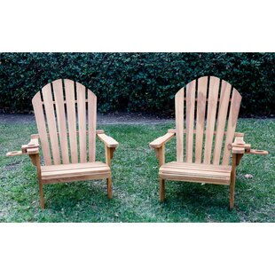 Mercedes Teak Adirondack Chair (Set of 2)