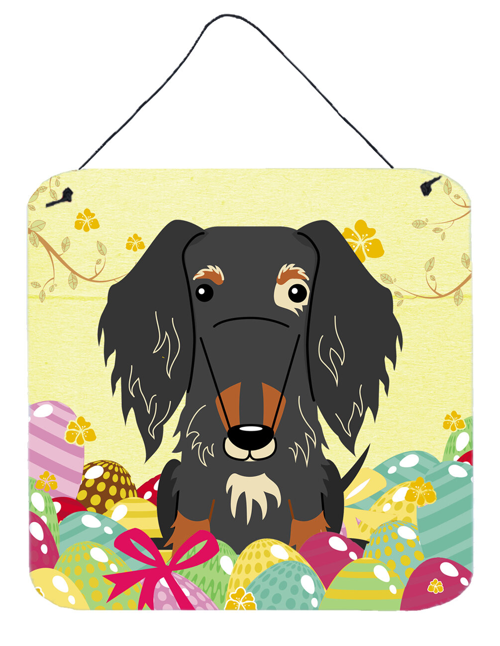 The Holiday Aisle Easter Wire Haired Dachshund Dapple Wall Décor ...