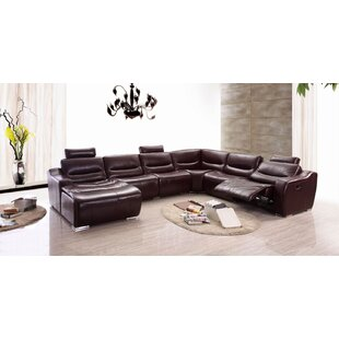 Barco Leather Reclining Sectional by Latitude Run