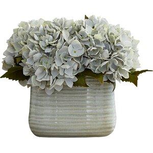 Hydrangea Centerpiece in Decorative Vase