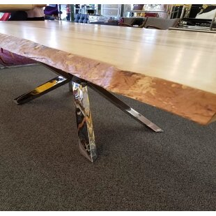 Carner Real Wood Edge Dining Table by Fou..